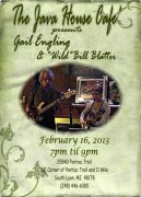 Java House Cafe' February 15, 2013 @ 7pm